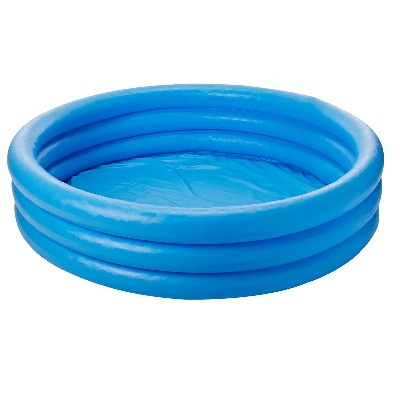 Piscina inflable azul cristal